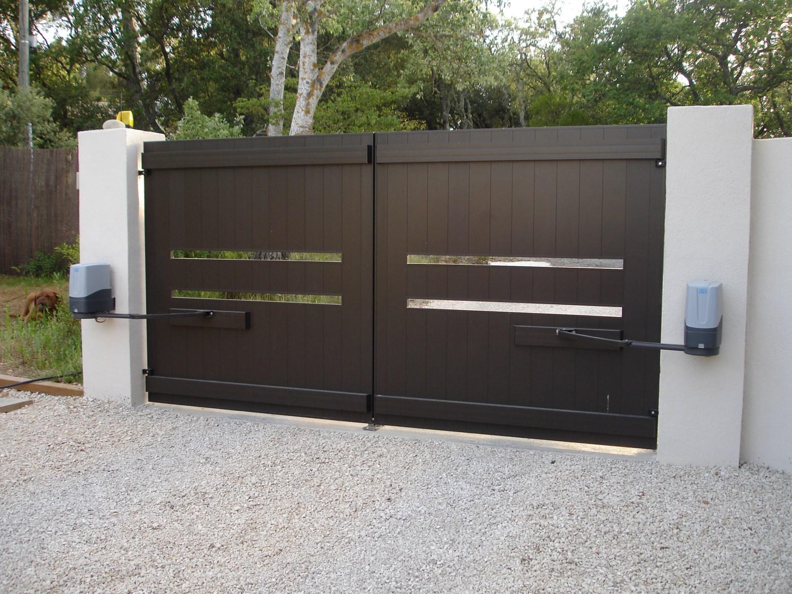 motorisation de portail. Black Bedroom Furniture Sets. Home Design Ideas